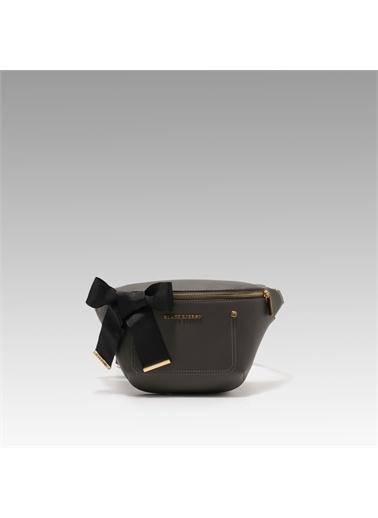 Black Ribbon Fermuarlı Bel Çantası Gri